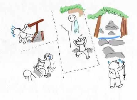 登山ハプニング
