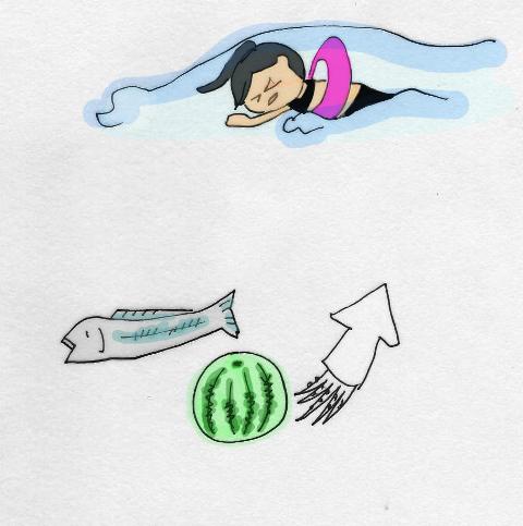 海水浴イラスト