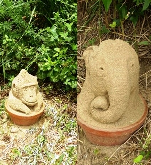 象さんとお猿さん