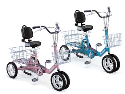 自転車の 高齢者 自転車 : 高齢者向けの転倒しにくい4輪 ...