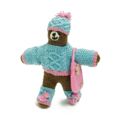 編み編みクマちゃんぬいぐるみ