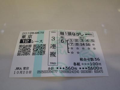 20191020東京12R(的中)56,060円