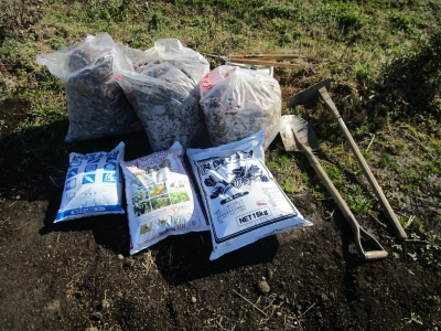 20200101家庭菜園01(土質改善の準備)