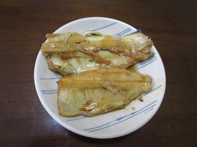 20200504釣ったニジマス(煮魚)01