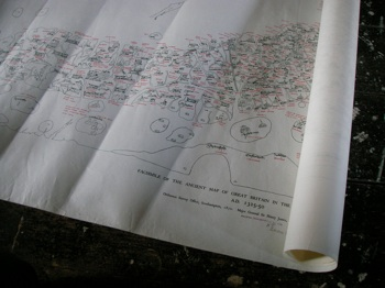 ヨーロッパの古い地図 アンティークマップ