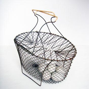 antique wire basket アンティークワイヤーバスケット アンティークパニエ フランスパニエ