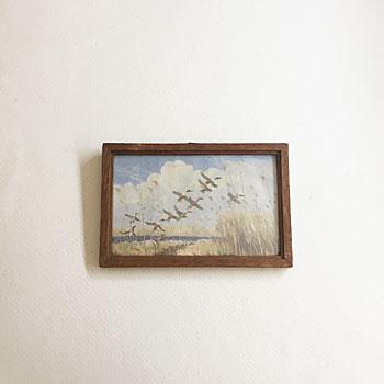 アンティーク鳥の額 bird picture frame