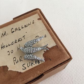 アンティークツバメブローチ antique bird brooch