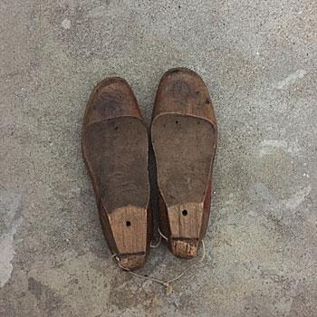 shoe mold アンティーク木靴型 キッズ木靴型 アンティークシューズモールド