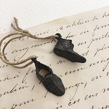 アンティークシューズペンダント 靴のペンダント