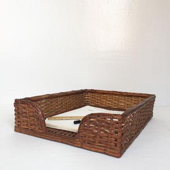 antique flatbasket アンティークフラットバスケット