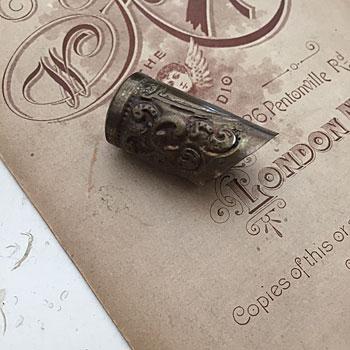 アンティーク指ぬき antique thimble アンティーク裁縫道具