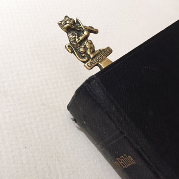 アンティーク真鍮ねこのブックエンド ねこのしおり antique cats bookmark