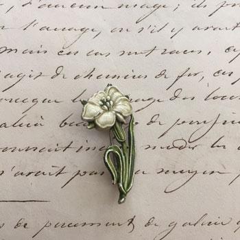 antique  flower brooch アンティーク植物ブローチ