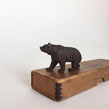 swiss bear 木彫りのくま アンティークくま