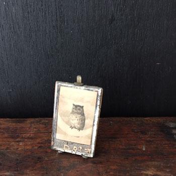 アンティークふくろう額 アンティークピクチャーフレーム owl pictyre frame