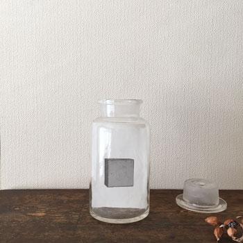 昭和初期の薬品ボトル 標本ボトル 古道具ガラスのボトル