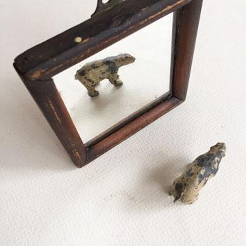木製枠のアンティークミラー 古い鏡 アンティークミラー イギリス インダストリアル