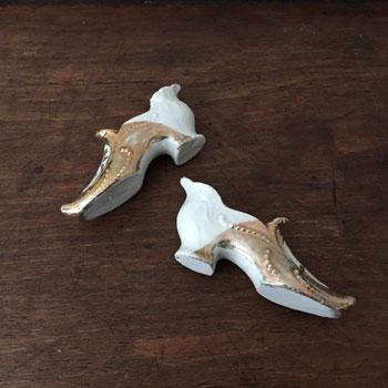 アンティークセラミック靴