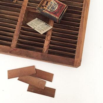 活版トレイ 日本の古道具