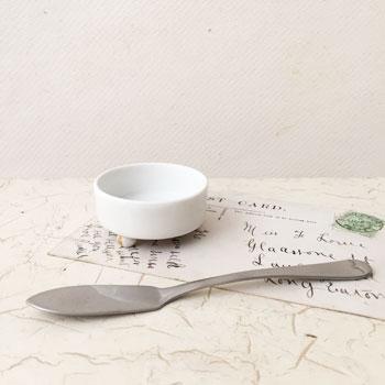 porcelaine de paris アンティークバターナイフ シンプル シルバー
