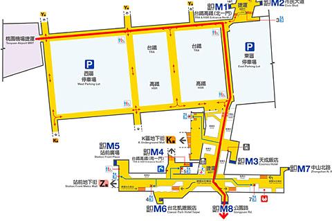 MRT台北駅移動