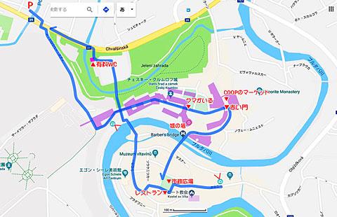 チェスキー・クルムロフ地図