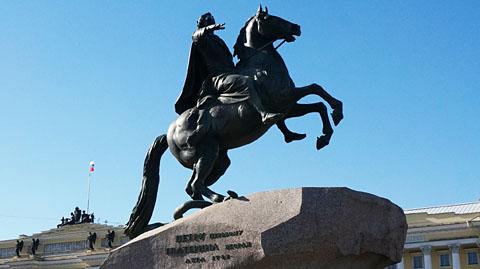 青銅の騎士像