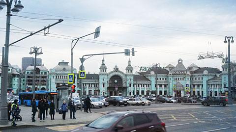 車窓の風景モスクワ