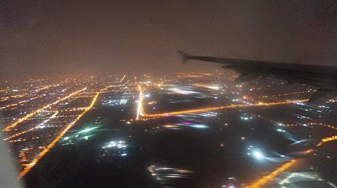 北京空港上空