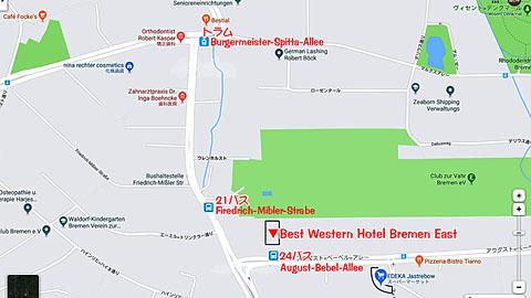 ブレーメンホテルマップ