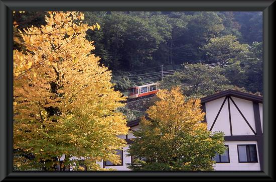 立山駅とケーブルカー