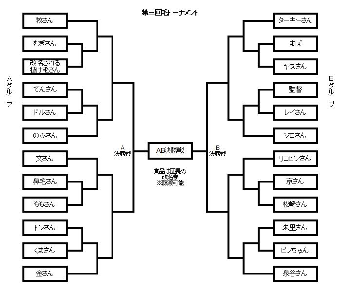 毛トーナメント表