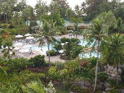 ホテルのお庭風景