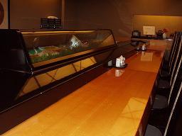 ホテルの寿司カウンターにて
