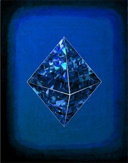 スピリチュアル【ピラミッド・ダイヤモンド】青