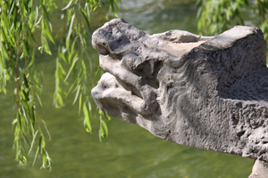 華清池の一角