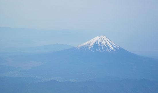 上空の富士2