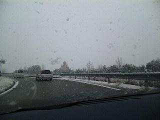 雪の徳島道