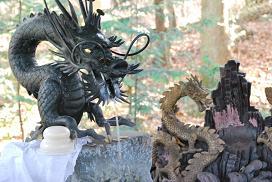 a tap like dragon in Yamajinja shrine