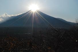 Mt. Fuji in a dimond sunshine