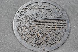 manhole in Numazu
