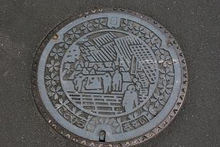 manhole in konpira