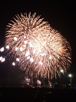 display of fireworks