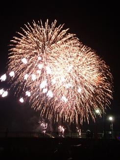 display of fireworks