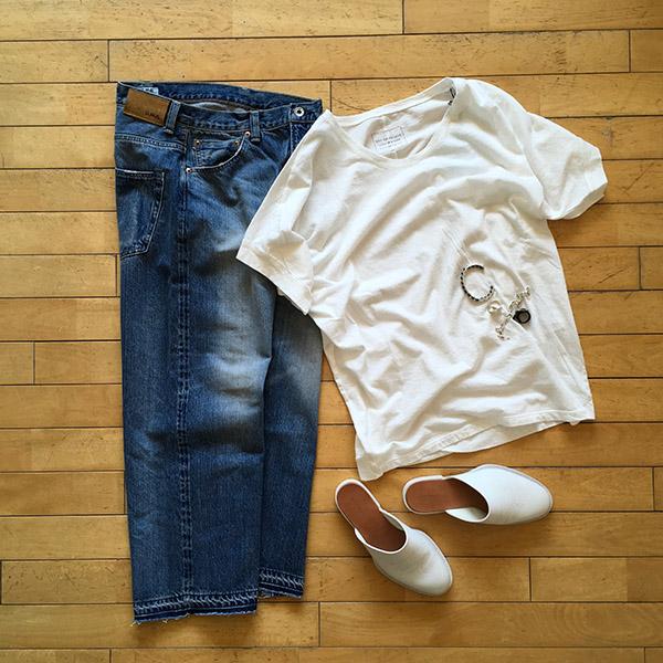 パドカレ Tシャツ ホワイト コーディネート.jpg