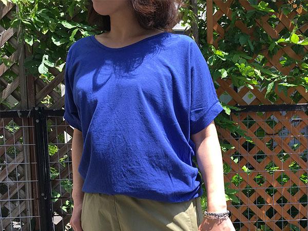 パドカレ UネックTシャツ ブルー.jpg