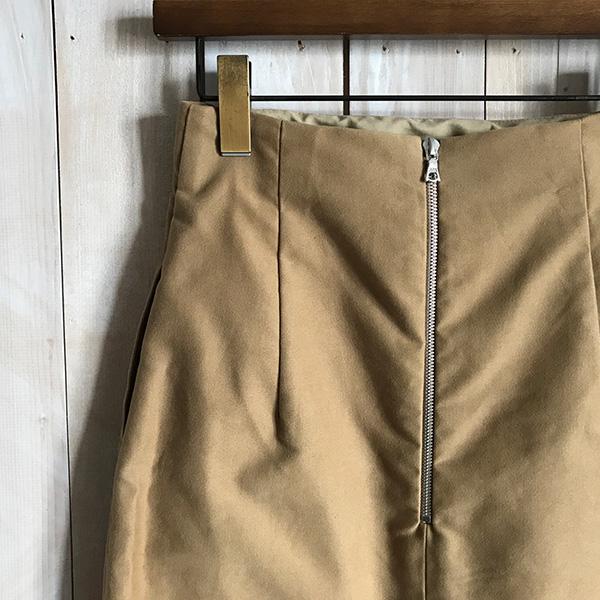 AURALEE モールスキンスカート ベージュ.jpg