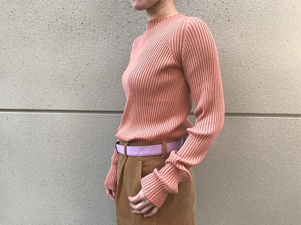 オーラリー リブニット ピンク.jpg