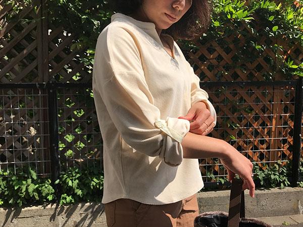 ロンハーマン Chamistie Shirts アイボリー.jpg